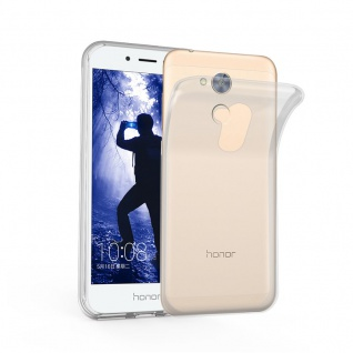 Cadorabo Hülle für Honor 6A in VOLL TRANSPARENT Handyhülle aus flexiblem TPU Silikon Silikonhülle Schutzhülle Ultra Slim Soft Back Cover Case Bumper