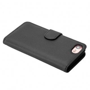 Cadorabo Hülle für Apple iPhone 7 / iPhone 7S / iPhone 8 in OXID SCHWARZ ? Handyhülle mit Magnetverschluss und 3 Kartenfächern ? Case Cover Schutzhülle Etui Tasche Book Klapp Style - Vorschau 4