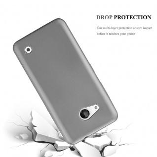Cadorabo Hülle für Nokia Lumia 550 in METALLIC GRAU - Handyhülle aus flexiblem TPU Silikon - Silikonhülle Schutzhülle Ultra Slim Soft Back Cover Case Bumper - Vorschau 3