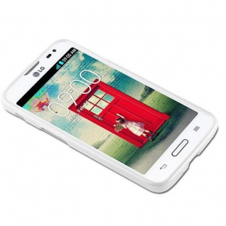 Cadorabo Hülle für LG L70 (1.SIM) in SILBER - Handyhülle aus flexiblem TPU Silikon - Silikonhülle Schutzhülle Ultra Slim Soft Back Cover Case Bumper - Vorschau 2