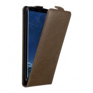 Cadorabo Hülle für Samsung Galaxy S8 in KAFFEE BRAUN Handyhülle im Flip Design mit unsichtbarem Magnetverschluss Case Cover Schutzhülle Etui Tasche Book Klapp Style