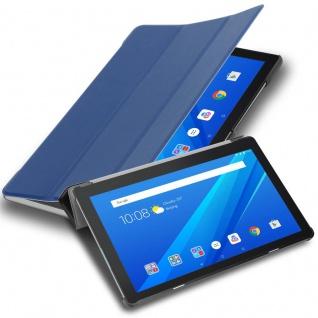 """Cadorabo Tablet Hülle für Lenovo Tab M10 (10, 1"""" Zoll) in JERSEY DUNKEL BLAU Ultra Dünne Book Style Schutzhülle OHNE Auto Wake Up und Standfunktion aus Kunstleder"""
