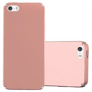 Cadorabo Hülle für Apple iPhone 5 / iPhone 5S / iPhone SE in METALL ROSE GOLD ? Hardcase Handyhülle aus Plastik gegen Kratzer und Stöße ? Schutzhülle Bumper Ultra Slim Back Case Hard Cover