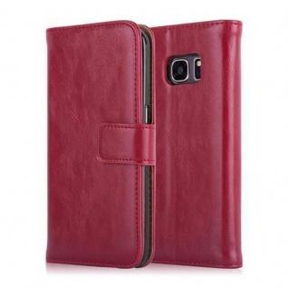 Cadorabo Hülle für Samsung Galaxy S7 in WEIN ROT ? Handyhülle mit Magnetverschluss, Standfunktion und Kartenfach ? Case Cover Schutzhülle Etui Tasche Book Klapp Style - Vorschau 2