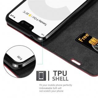 Cadorabo Hülle für Google Pixel 3 in APFEL ROT Handyhülle mit Magnetverschluss, Standfunktion und Kartenfach Case Cover Schutzhülle Etui Tasche Book Klapp Style - Vorschau 2