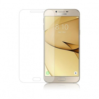Cadorabo Panzer Folie für Samsung Galaxy A8 2016 - Schutzfolie in KRISTALL KLAR - Gehärtetes (Tempered) Display-Schutzglas in 9H Härte mit 3D Touch Kompatibilität