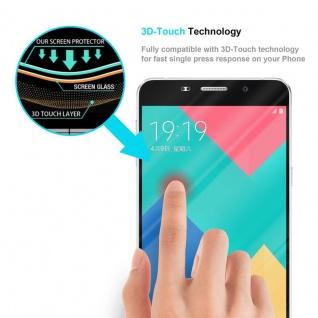 Cadorabo Vollbild Panzer Folie für Samsung Galaxy A9 2015 - Schutzfolie in TRANSPARENT mit SCHWARZ - Gehärtetes (Tempered) Display-Schutzglas in 9H Härte mit 3D Touch Kompatibilität - Vorschau 5