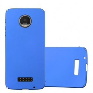 Cadorabo Hülle für Motorola MOTO Z in METALL BLAU - Hardcase Handyhülle aus Plastik gegen Kratzer und Stöße - Schutzhülle Bumper Ultra Slim Back Case Hard Cover