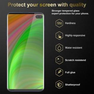 Cadorabo 3x Panzer Folie für Samsung Galaxy S10 PLUS - Schutzfolie in KRISTALL KLAR - 3er Pack Gehärtetes (Tempered) Display-Schutzglas in 9H Härte mit 3D Touch Kompatibilität - Vorschau 2