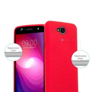 Cadorabo Hülle für LG X POWER 2 in FROST ROT - Handyhülle aus flexiblem TPU Silikon - Silikonhülle Schutzhülle Ultra Slim Soft Back Cover Case Bumper - Vorschau 5