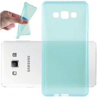 Cadorabo Hülle für Samsung Galaxy A7 2015 in TRANSPARENT BLAU - Handyhülle aus flexiblem TPU Silikon - Silikonhülle Schutzhülle Ultra Slim Soft Back Cover Case Bumper