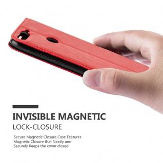 Cadorabo Hülle für Honor 7C in APFEL ROT Handyhülle mit Magnetverschluss, Standfunktion und Kartenfach Case Cover Schutzhülle Etui Tasche Book Klapp Style - Vorschau 5