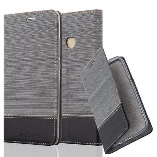 Cadorabo Hülle für Xiaomi Mi MAX 2 in GRAU SCHWARZ - Handyhülle mit Magnetverschluss, Standfunktion und Kartenfach - Case Cover Schutzhülle Etui Tasche Book Klapp Style