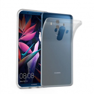 Cadorabo Hülle für Huawei MATE 10 PRO in VOLL TRANSPARENT - Handyhülle aus flexiblem TPU Silikon - Silikonhülle Schutzhülle Ultra Slim Soft Back Cover Case Bumper