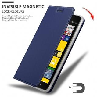 Cadorabo Hülle für Nokia Lumia 1520 in CLASSY DUNKEL BLAU - Handyhülle mit Magnetverschluss, Standfunktion und Kartenfach - Case Cover Schutzhülle Etui Tasche Book Klapp Style - Vorschau 3