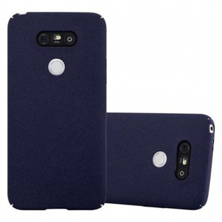 Cadorabo Hülle für LG G5 in FROSTY BLAU Hardcase Handyhülle aus Plastik gegen Kratzer und Stöße Schutzhülle Bumper Ultra Slim Back Case Hard Cover