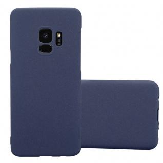 Cadorabo Hülle für Samsung Galaxy S9 in FROSTY BLAU - Hardcase Handyhülle aus Plastik gegen Kratzer und Stöße - Schutzhülle Bumper Ultra Slim Back Case Hard Cover