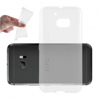 Cadorabo Hülle für HTC 10 - Hülle in VOLL TRANSPARENT ? Handyhülle aus TPU Silikon im Ultra Slim 'AIR' Design - Ultra Slim Soft Backcover Case Bumper