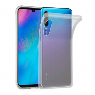 Cadorabo Hülle für Huawei P30 in VOLL TRANSPARENT Handyhülle aus flexiblem TPU Silikon Silikonhülle Schutzhülle Ultra Slim Soft Back Cover Case Bumper