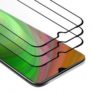 Cadorabo 3x Vollbild Panzer Folie für Xiaomi Mi CC9 - Schutzfolie in TRANSPARENT mit SCHWARZ - 3er Pack Gehärtetes (Tempered) Display-Schutzglas in 9H Härte mit 3D Touch