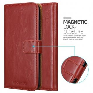 Cadorabo Hülle für HTC Desire 10 PRO in WEIN ROT - Handyhülle mit Magnetverschluss, Standfunktion und Kartenfach - Case Cover Schutzhülle Etui Tasche Book Klapp Style - Vorschau 2