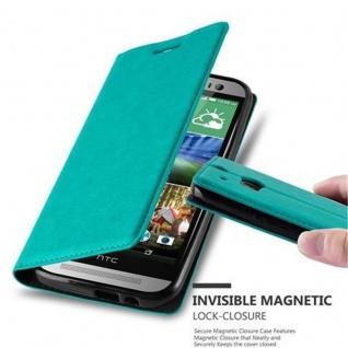 Cadorabo Hülle für HTC ONE M8 (2.Generation) in PETROL TÜRKIS - Handyhülle mit Magnetverschluss, Standfunktion und Kartenfach - Case Cover Schutzhülle Etui Tasche Book Klapp Style