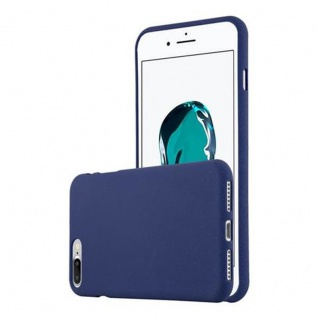 Cadorabo Hülle für Apple iPhone 8 PLUS / iPhone 7 PLUS / iPhone 7S PLUS in FROST DUNKEL BLAU - Handyhülle aus flexiblem TPU Silikon - Silikonhülle Schutzhülle Ultra Slim Soft Back Cover Case Bumper
