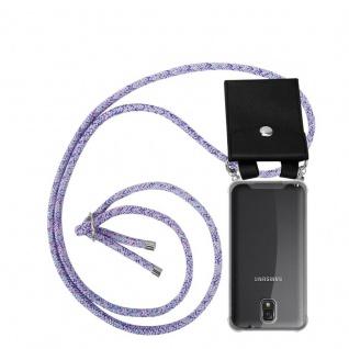 Cadorabo Handy Kette für Samsung Galaxy NOTE 3 in UNICORN - Silikon Necklace Umhänge Hülle mit Silber Ringen, Kordel Band Schnur und abnehmbarem Etui - Schutzhülle