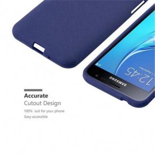 Cadorabo Hülle für Samsung Galaxy J3 / J3 DUOS 2016 in FROST DUNKEL BLAU - Handyhülle aus flexiblem TPU Silikon - Silikonhülle Schutzhülle Ultra Slim Soft Back Cover Case Bumper - Vorschau 3