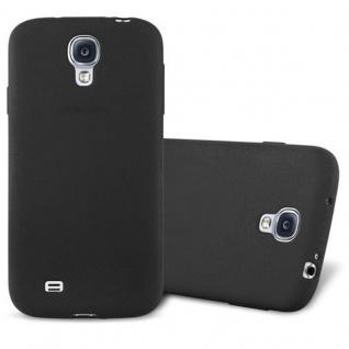 Cadorabo Hülle für Samsung Galaxy S4 in FROST SCHWARZ - Handyhülle aus flexiblem TPU Silikon - Silikonhülle Schutzhülle Ultra Slim Soft Back Cover Case Bumper