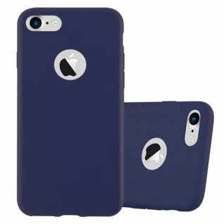 Cadorabo Hülle für Apple iPhone 7 / 7S / 8 / SE 2020 in CANDY DUNKEL BLAU - Handyhülle aus flexiblem TPU Silikon - Silikonhülle Schutzhülle Ultra Slim Soft Back Cover Case Bumper