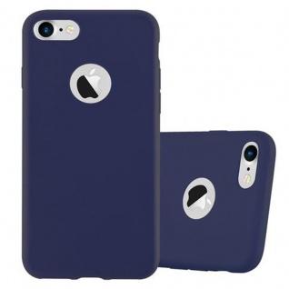 Cadorabo Hülle für Apple iPhone 7 / 7S / 8 / SE 2020 in CANDY DUNKEL BLAU Handyhülle aus flexiblem TPU Silikon Silikonhülle Schutzhülle Ultra Slim Soft Back Cover Case Bumper