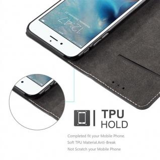 Cadorabo Hülle für Apple iPhone 6 PLUS / iPhone 6S PLUS in SCHWARZ BRAUN ? Handyhülle mit Magnetverschluss, Standfunktion und Kartenfach ? Case Cover Schutzhülle Etui Tasche Book Klapp Style - Vorschau 5