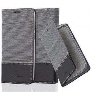 Cadorabo Hülle für HTC Desire 820 in GRAU SCHWARZ - Handyhülle mit Magnetverschluss, Standfunktion und Kartenfach - Case Cover Schutzhülle Etui Tasche Book Klapp Style