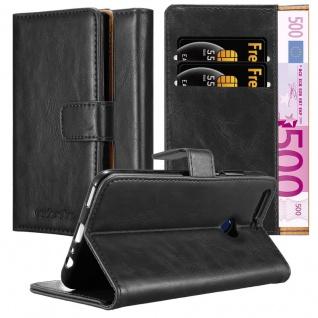 Cadorabo Hülle für Honor 8 PRO in GRAPHIT SCHWARZ ? Handyhülle mit Magnetverschluss, Standfunktion und Kartenfach ? Case Cover Schutzhülle Etui Tasche Book Klapp Style