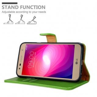 Cadorabo Hülle für LG X Power 2 in GRAS GRÜN - Handyhülle mit Magnetverschluss, Standfunktion und Kartenfach - Case Cover Schutzhülle Etui Tasche Book Klapp Style - Vorschau 4