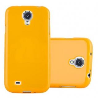 Cadorabo Hülle für Samsung Galaxy S4 in JELLY GELB ? Handyhülle aus flexiblem TPU Silikon ? Silikonhülle Schutzhülle Ultra Slim Soft Back Cover Case Bumper