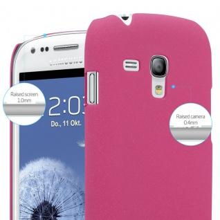 Cadorabo Hülle für Samsung Galaxy S3 MINI in FROSTY PINK - Hardcase Handyhülle aus Plastik gegen Kratzer und Stöße - Schutzhülle Bumper Ultra Slim Back Case Hard Cover - Vorschau 3