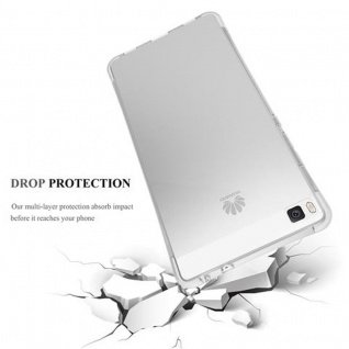Cadorabo Hülle für Huawei P8 LITE 2015 - Hülle in KOMPLETT TRANSPARENT - Handyhülle aus TPU Silikon mit Schlaufe im Small Waist Design - Silikonhülle Schutzhülle Ultra Slim Soft Back Cover Case Bumper 4