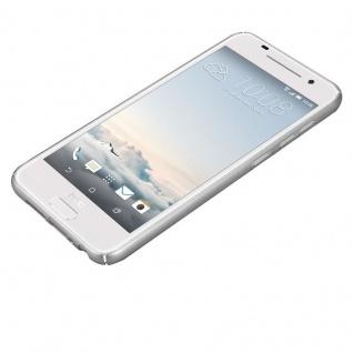 Cadorabo Hülle für HTC One A9 in METALL SILBER ? Hardcase Handyhülle aus Plastik gegen Kratzer und Stöße ? Schutzhülle Bumper Ultra Slim Back Case Hard Cover - Vorschau 3