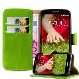 Cadorabo Hülle für LG G2 MINI in GRAS GRÜN Handyhülle mit Magnetverschluss, Standfunktion und Kartenfach Case Cover Schutzhülle Etui Tasche Book Klapp Style