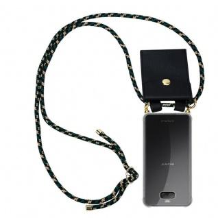 Cadorabo Handy Kette für Sony Xperia 10 in CAMOUFLAGE Silikon Necklace Umhänge Hülle mit Gold Ringen, Kordel Band Schnur und abnehmbarem Etui Schutzhülle
