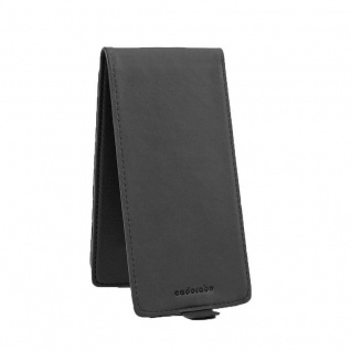 Cadorabo Hülle für Sony Xperia XA2 in OXID SCHWARZ - Handyhülle im Flip Design aus strukturiertem Kunstleder - Case Cover Schutzhülle Etui Tasche Book Klapp Style - Vorschau 4