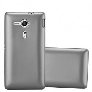 Cadorabo Hülle für Sony Xperia SP in METALLIC GRAU - Handyhülle aus flexiblem TPU Silikon - Silikonhülle Schutzhülle Ultra Slim Soft Back Cover Case Bumper