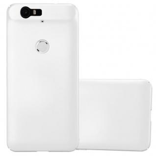 Cadorabo Hülle für Huawei NEXUS 6P in METALL SILBER - Hardcase Handyhülle aus Plastik gegen Kratzer und Stöße - Schutzhülle Bumper Ultra Slim Back Case Hard Cover