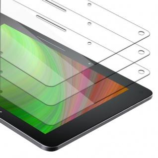 Cadorabo 3x Panzer Folie für Kindle Voyage 2014 (7. Gen.) - Schutzfolie in KRISTALL KLAR - 3er Pack Gehärtetes (Tempered) Display-Schutzglas in 9H Härte mit 3D Touch Kompatibilität