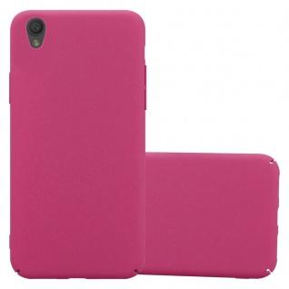 Cadorabo Hülle für Sony Xperia L1 in FROSTY PINK - Hardcase Handyhülle aus Plastik gegen Kratzer und Stöße - Schutzhülle Bumper Ultra Slim Back Case Hard Cover