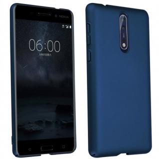Cadorabo Hülle für Nokia 8 2017 in METALL BLAU - Hardcase Handyhülle aus Plastik gegen Kratzer und Stöße - Schutzhülle Bumper Ultra Slim Back Case Hard Cover