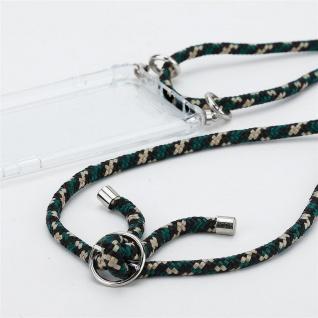Cadorabo Handy Kette für Huawei NOVA 2 in CAMOUFLAGE Silikon Necklace Umhänge Hülle mit Silber Ringen, Kordel Band Schnur und abnehmbarem Etui Schutzhülle - Vorschau 2