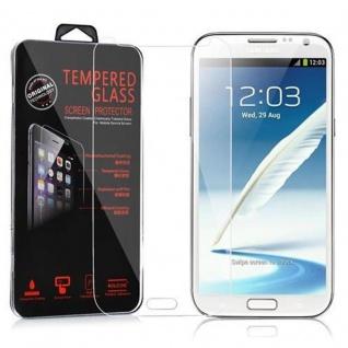 Cadorabo Panzer Folie für Samsung Galaxy NOTE 2 - Schutzfolie in KRISTALL KLAR - Gehärtetes (Tempered) Display-Schutzglas in 9H Härte mit 3D Touch Kompatibilität